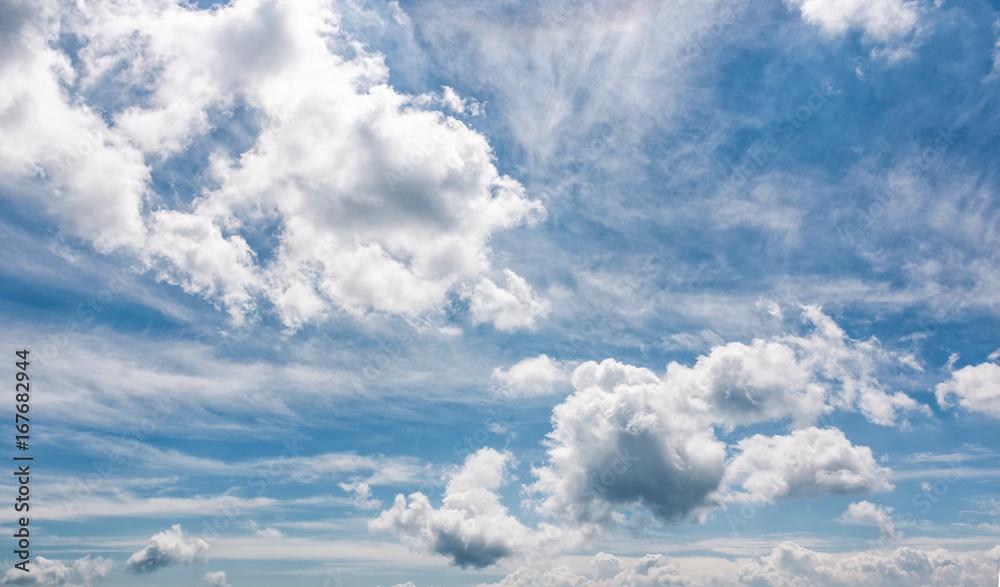 Fototapeta cloudy dynamic formation on a blue summer sky