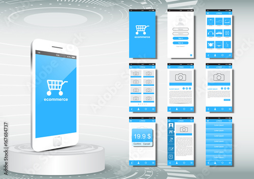 UI, UX for mobile application template, ecommerce - Buy this