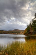 Fall Lake Scene In New Hampshire
