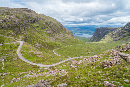 Fotografering  Scenic sight near Bealach na Ba viewpoint, in Applecross peninsula in Wester Ross, Scottish Higlands