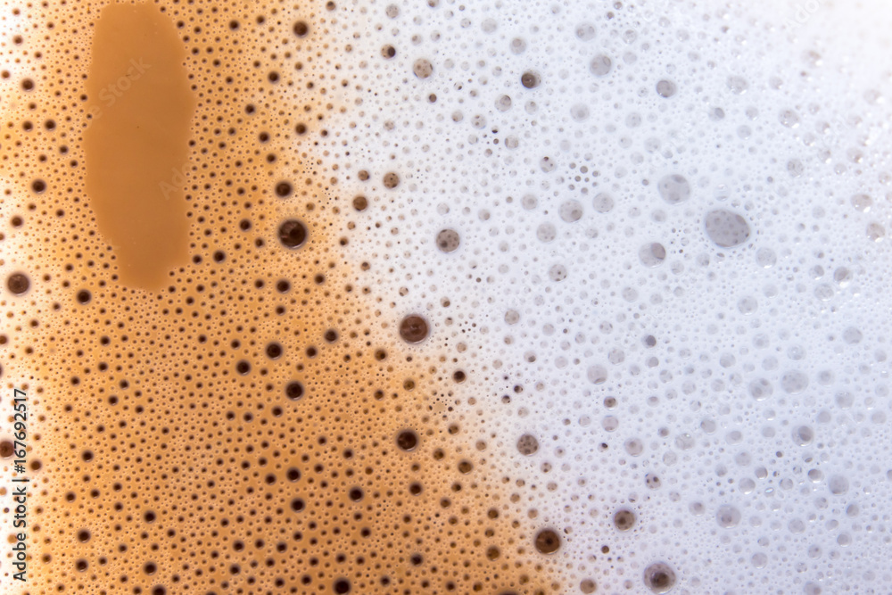 Photo Art Print Surface Texture Of Hot Milk Coffee And
