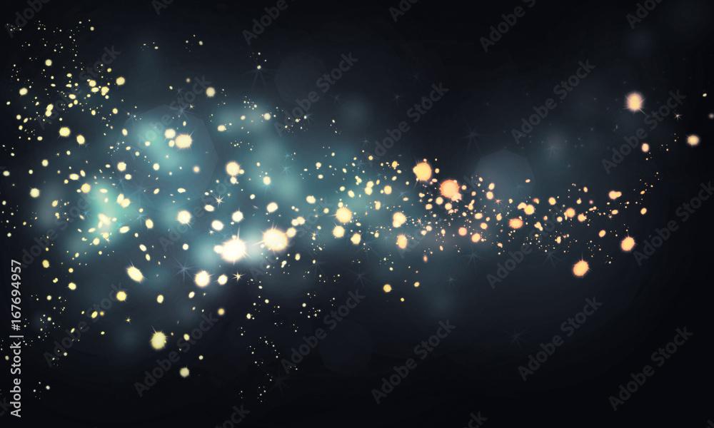 Fototapety, obrazy: glittering sparkles in dark