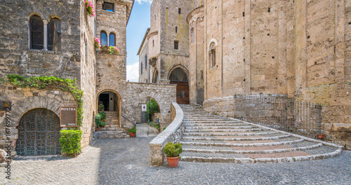 Scenic sight in Anagni, province of Frosinone, Lazio, central Italy Tablou Canvas