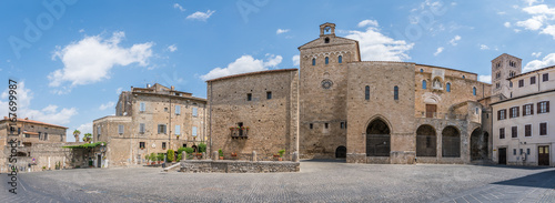 Scenic sight in Anagni, province of Frosinone, Lazio, central Italy Canvas-taulu