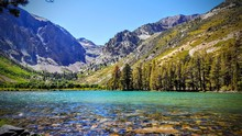 Sparkling View Of Parker Lake Near June Lake And Mammoth Mountain In California.