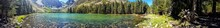 Panoramic View Of Parker Lake Near June Lake And Mammoth Mountain In California