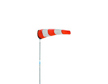 Horizontally Flying Windsock (wind Vane) Isolated On A White Background