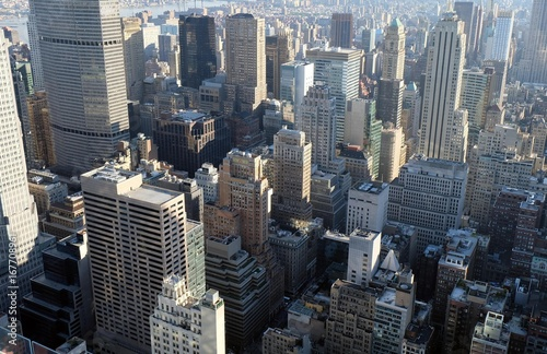 Foto op Aluminium New York Aerial view of Manhattan on a sunny day