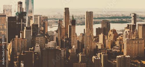 Aerial view of lower Manhattan New York City