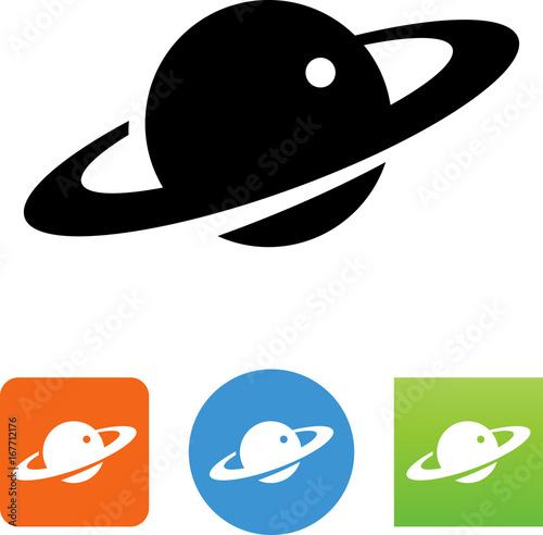Photo Saturn Icon - Illustration