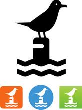 Seagull Icon - Illustration