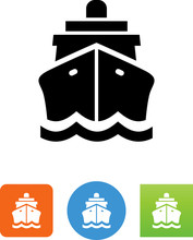 Ship Front View Icon - Illustr...