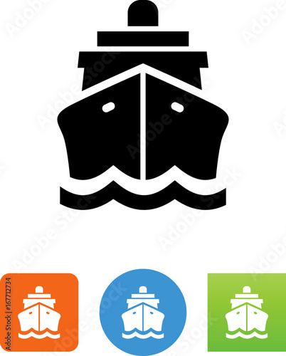 Cuadros en Lienzo  Ship Front View Icon - Illustration