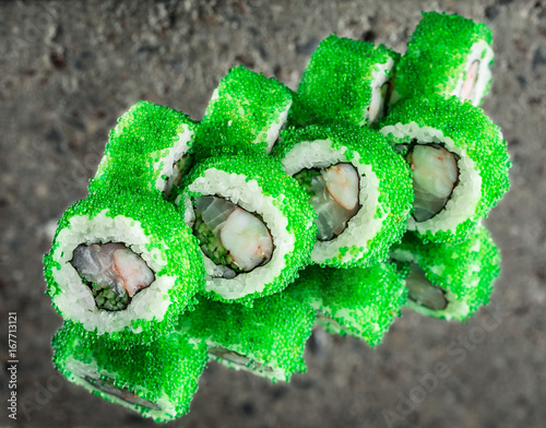 Fotografie, Obraz  Roll Samurai made with flying fish roe