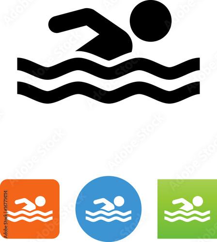 Fotomural Swimming Icon - Illustration