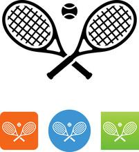 Tennis Rackets Icon - Illustra...