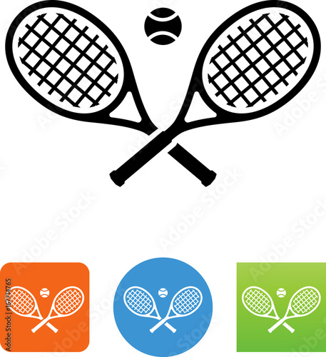 Obraz na plátně Tennis Rackets Icon - Illustration