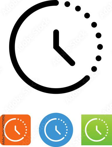 Time Lapse Icon - Illustration Fotobehang