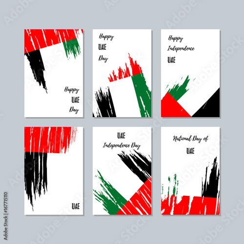 Uae patriotic cards for national day expressive brush stroke in uae patriotic cards for national day expressive brush stroke in national flag colors on white m4hsunfo