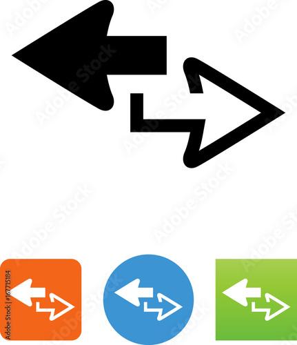Valokuva  Transfer Sideways Hollow Arrow Icon - Illustration