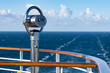binocular on deck of a cruise ship