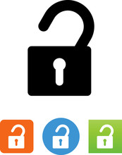Unlocked Icon - Illustration