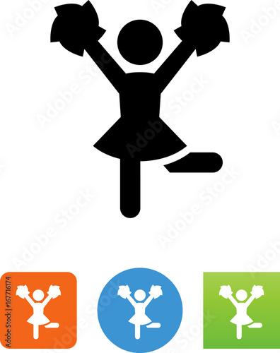 Fotografía  Vector Cheerleader Icon - Illustration