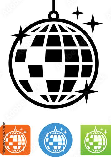 Fotografie, Obraz  Vector Disco Ball Icon - Illustration