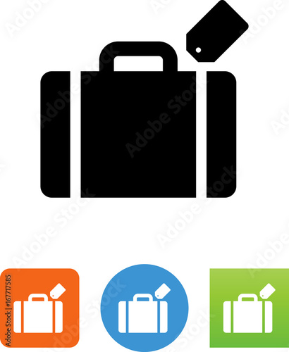 Photo Vector Suitcase Icon - Illustration