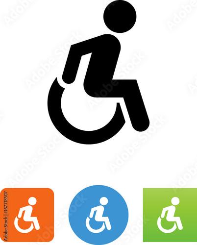 Wheelchair Icon - Illustration Canvas Print