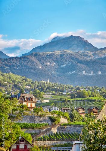 Fotografie, Obraz Sierre, Switzerland