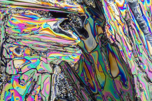 Foto op Plexiglas Paradijsvogel Sodium nitrate microcrystals