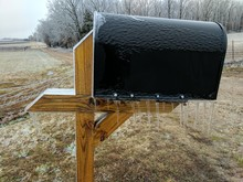 Country Mailbox With Icicles