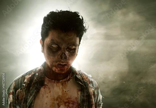 Plakat Straszny zombie