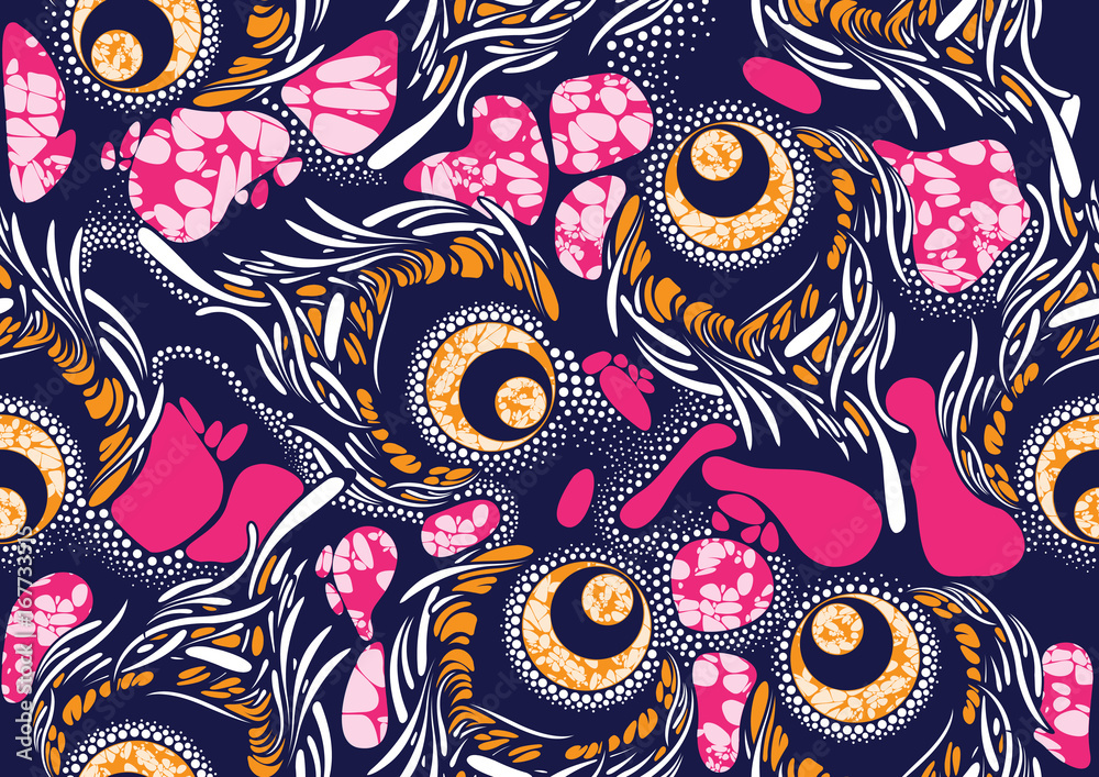 Textile fashion african print fabric super wax <span>plik: #167733515 | autor: kirkchai</span>
