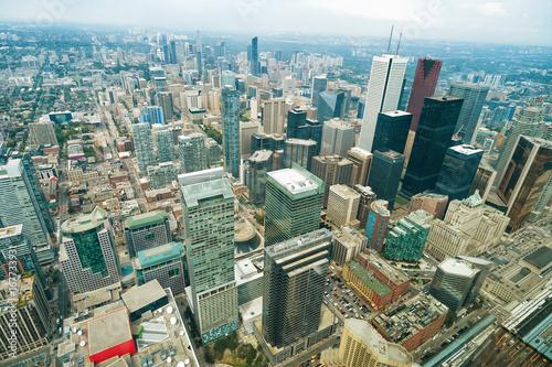 Foto op Aluminium Toronto Aerial view of Toronto downtown. Ontario, Canada