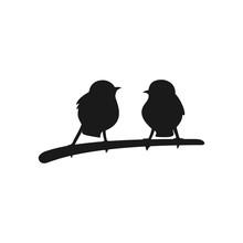 Two Birds Logo Vector.