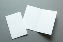 A Layout For Menu Or Brochures On A Gray Background.