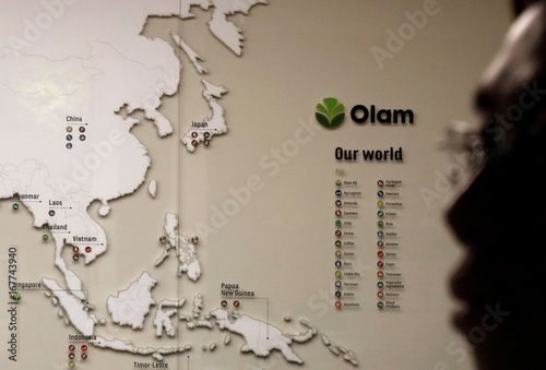 A map showing Olam\'s operations in Asia is pictured in their ...