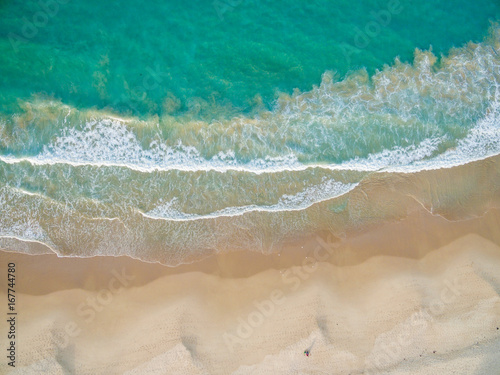 Aerial Blue Waters White Sands Australian Beach