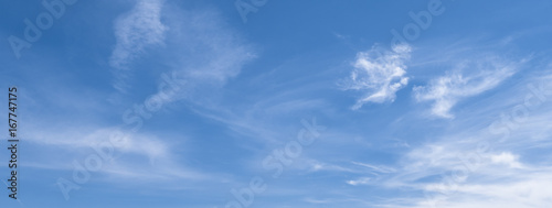 Foto  Banner mit blauem Himmel und Wolken