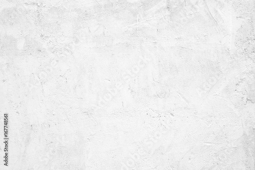 Blank White Grunge Cement Wall Texture Background Banner Interior Design
