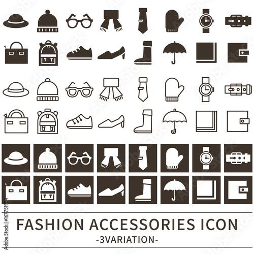Stampa su Tela  ファッション雑貨 アイコン セット