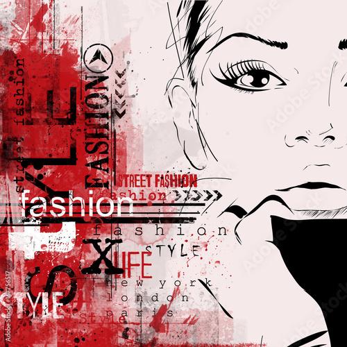 Fototapety stylowe  dekoracyjna-moda-w-stylu-malarskim