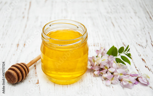 honey with acacia blossoms Wallpaper Mural