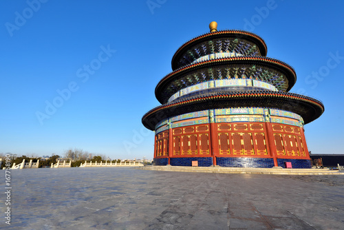 Poster Temple of Heaven scenary in Beijing,China.