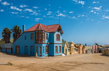 Colorful Houses In Luderitz, G...