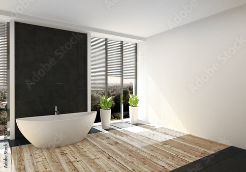 Modernes Luxurioses Badezimmer Mit Fussboden Aus Edlem Holz Buy