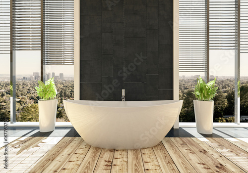 Cuadros en Lienzo Moderne freistehende Badewanne in modernem Design