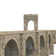 Alcantara Bridge On White. 3D Illustration, Clipping Path